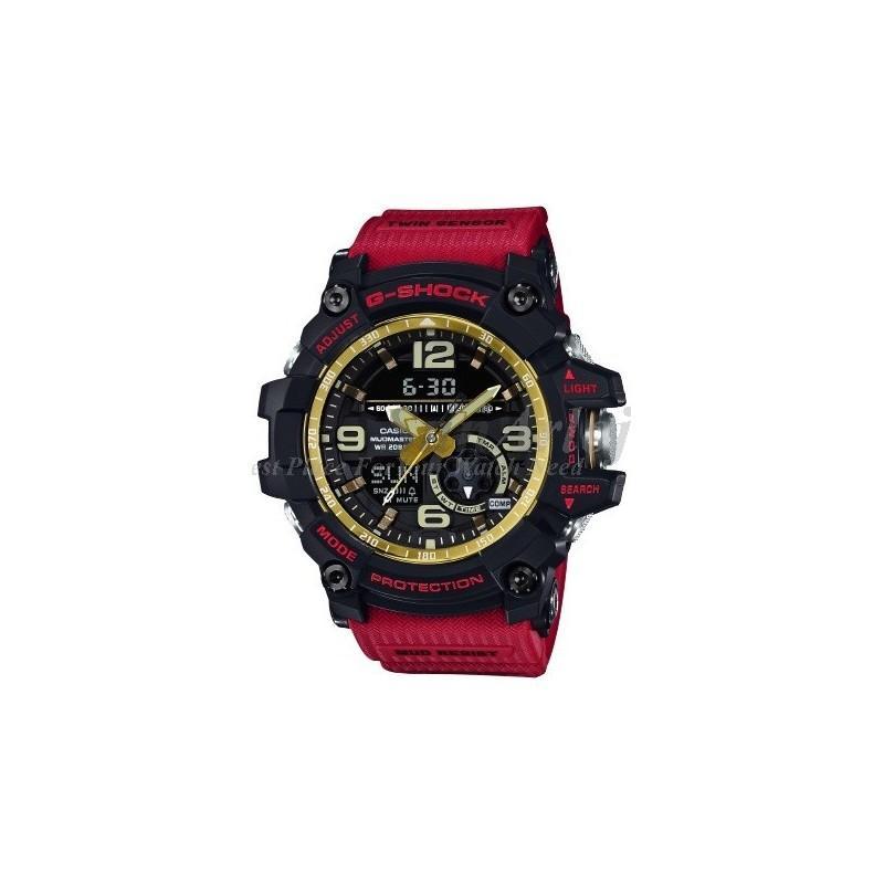 Casio G-Shock GG-1000GB-4A MudMaster Jam Tangan Casual Pria With Compass Aktif New Model (RED)