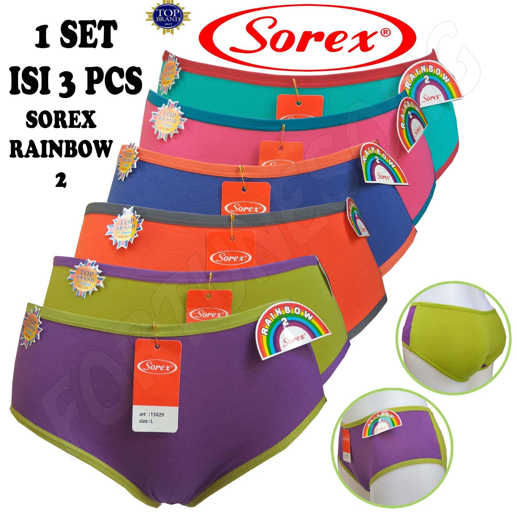 SOREX - 3 Pcs Celana Dalam Wanita Sorex RAINBOW 2 15029 9c13c31010