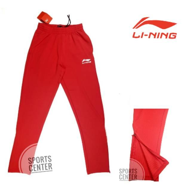 HOT ITEM Celana Training Lining / Trackpant Official Asian Games 2018 Red Original 100% / Asian Paragames 2018 Jakarta / ASEAN Games 2018 2019 / Ready Size M L XL XXL ORIGINAL 100%  Dibawah Celana Training Ada Resleting  Logo LINING Timbul