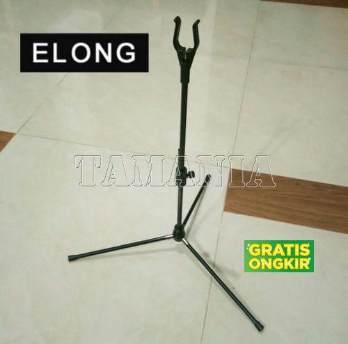 HARGA PROMO!!! BOW STAND ELONG - HITAM - Tripod Dudukan Busur Panah - JxWppS