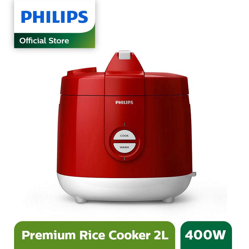 Philips Daily Collection Rice cooker HD3129/32 - 2L - Merah