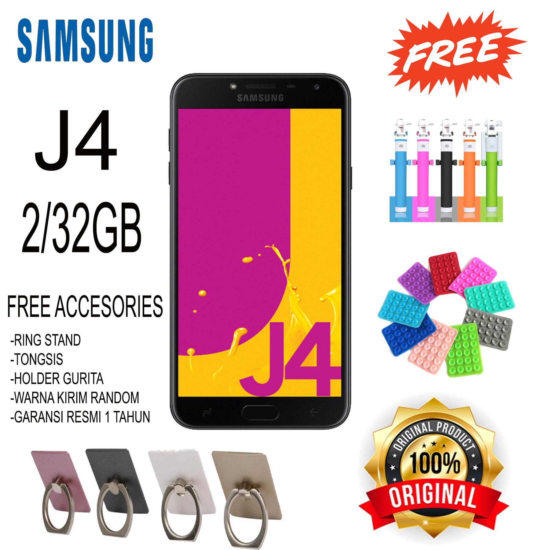 Samsung Galaxy J4 Smartphone - 32GB/ 2GB - Garansi Resmi - Free Accesories