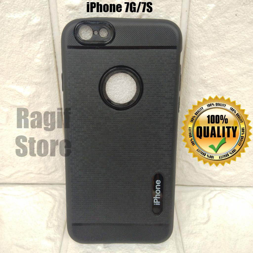 New Casing For IPhone 7G 7S Silicon Black Edition
