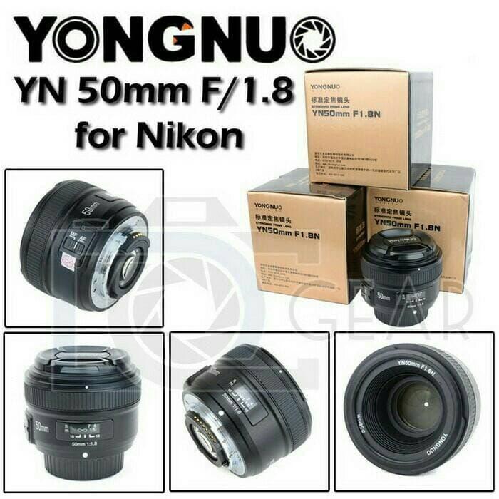 Best Buy Yongnuo lensa - EF YN 50MM F1.8 FOR NIKON