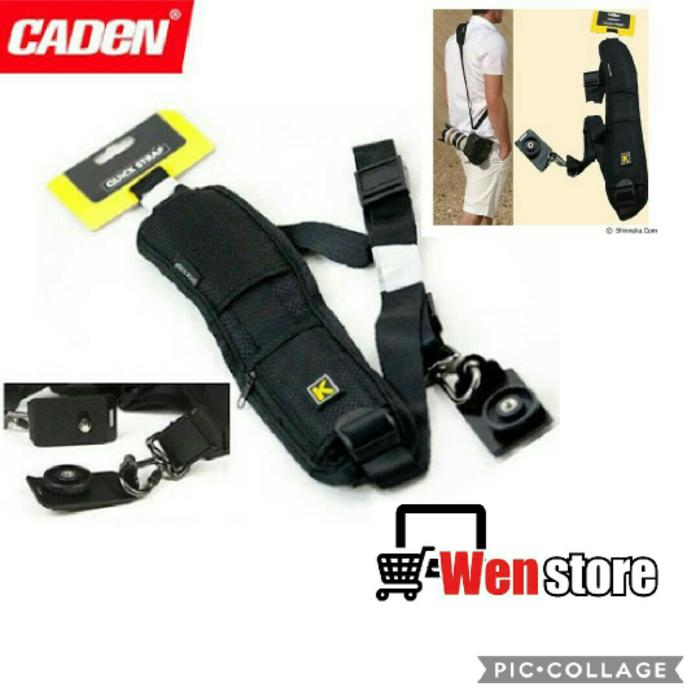 caden quick rapid single sling strap for kamera dslr nikon canon sony pentax fujifilm