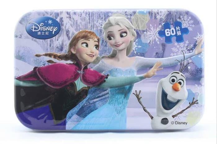 Hemat 10%!! Puzzle Jigsaw Kaleng 60 Potong (6X10) Frozen Seri 2 - ready stock