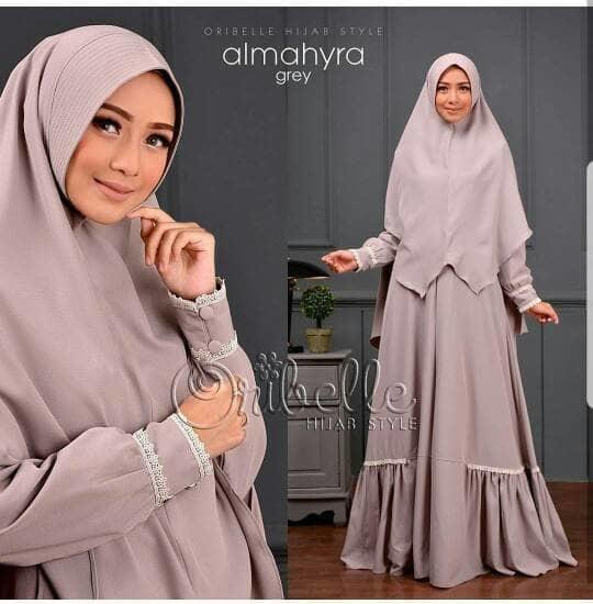 Dress Almahyra Syari Gamis Wolfice Pakaian Wanita Terusan Panjang Fashion Muslim Baju Syar'I Hijab Modern Pakaian Gaun Simple Modis Trendy Baju Model Terbaru