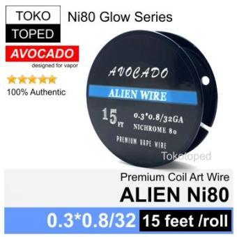 Pencari Harga Authentic Avocado ALIEN Ni80 wire mod rda rta rdta vapor nichrome 80 terbaik murah