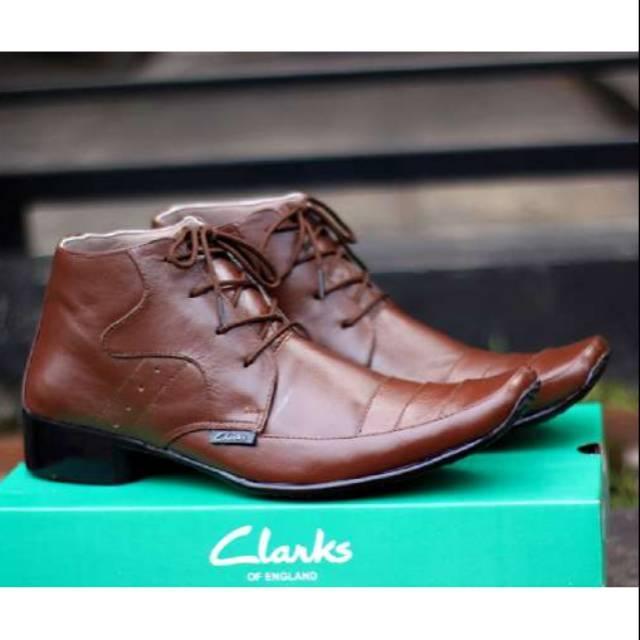 Sepatu Clarks Pantopel Kulit Pria Leather Formal Kerja PDH/PDL Model Boots Kulit Asli