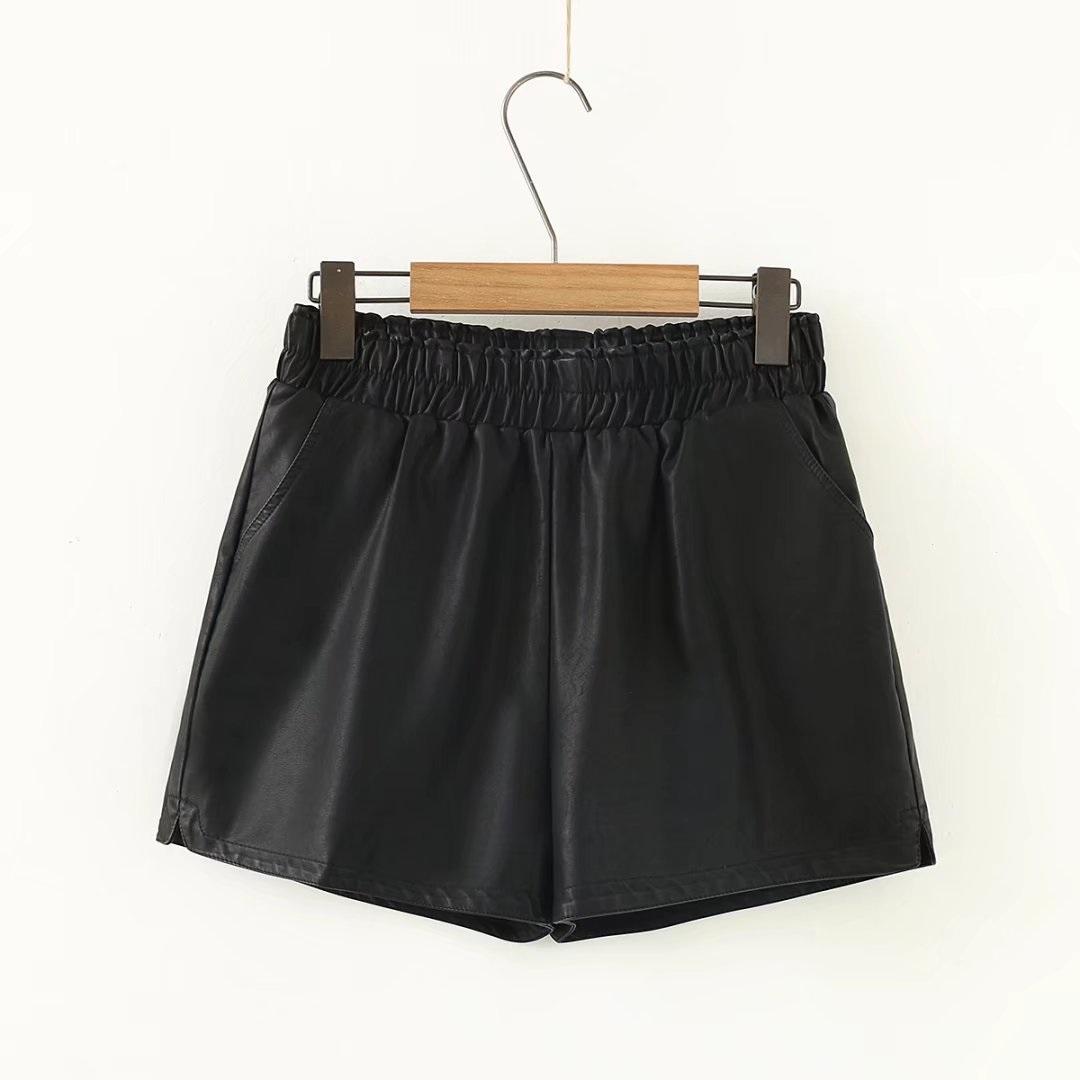 Celana Pendek Gemuk Ukuran Ekstra Besar Sepatu Celana Wanita Elastis (1726-Hitam)