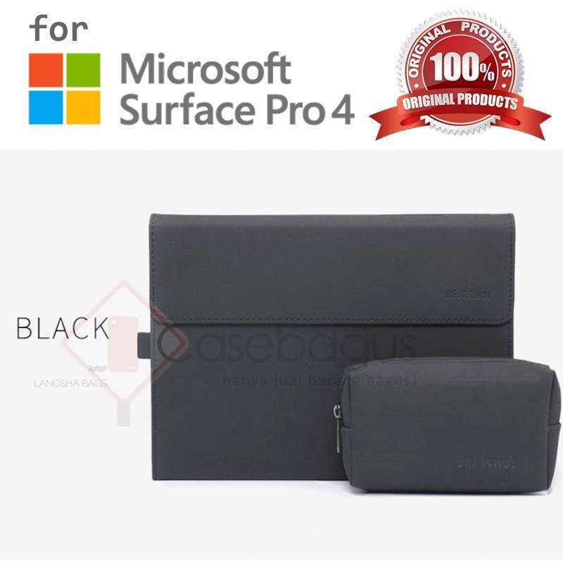Microsoft Surface Pro 4 - Bestchoi Slim Leather Flip Case Cover