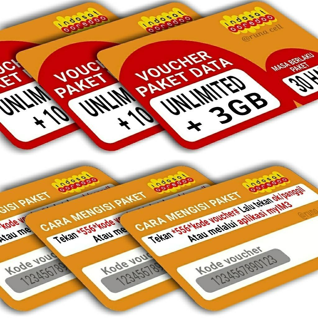 Voucher paket data indosat unlimited +3GB