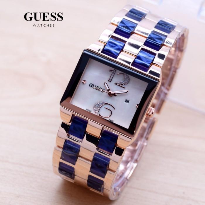 jam tangan wanita / jam tangan wanita terbaru / jam tangan wanita casio / jam tangan wanita fossil / jam tangan wanita guess / jam tangan wanita original / jam tangan wanita alba / Jam Tangan Wanita / Cewek Guess Trista Rantai Rose Blue DISKON MURAH!!!
