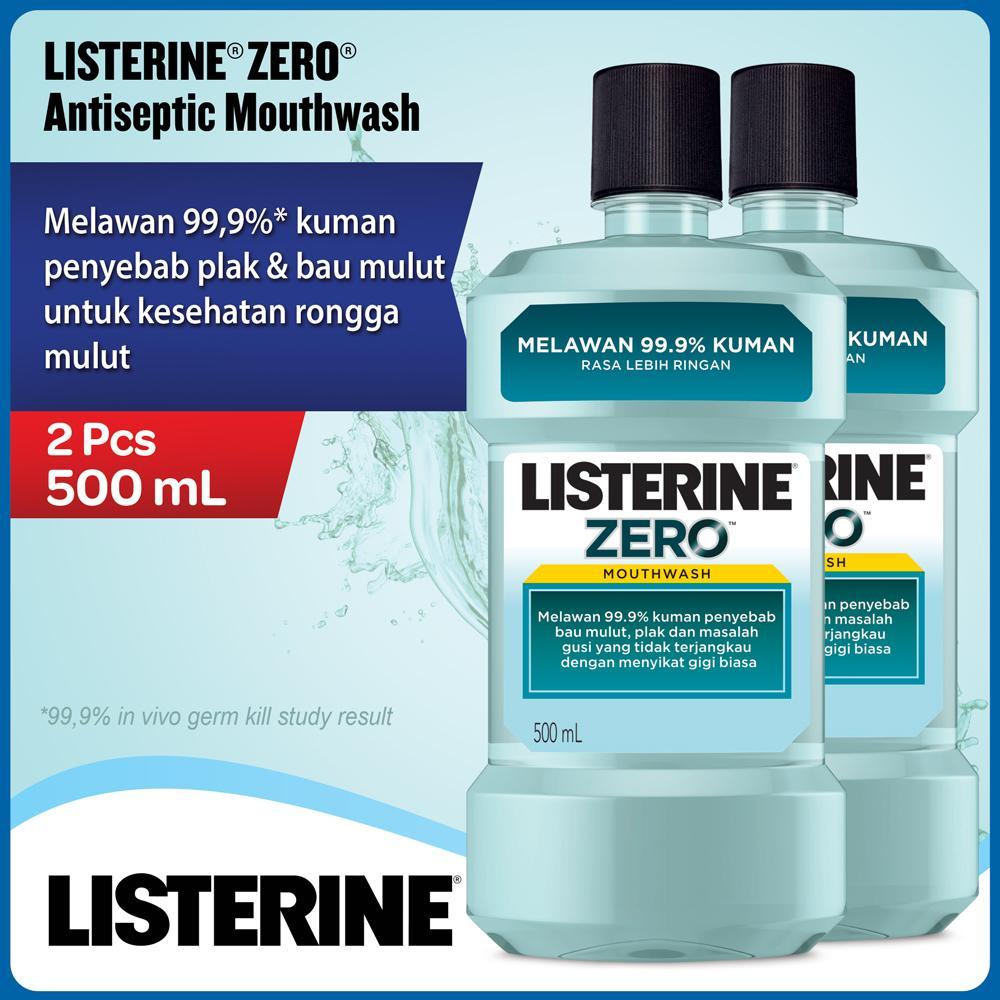 Jual Mouthwash Terbaik Fresh Mouth Originalherbal Bau Mulut Listerine Zero 500ml 2 Pcs