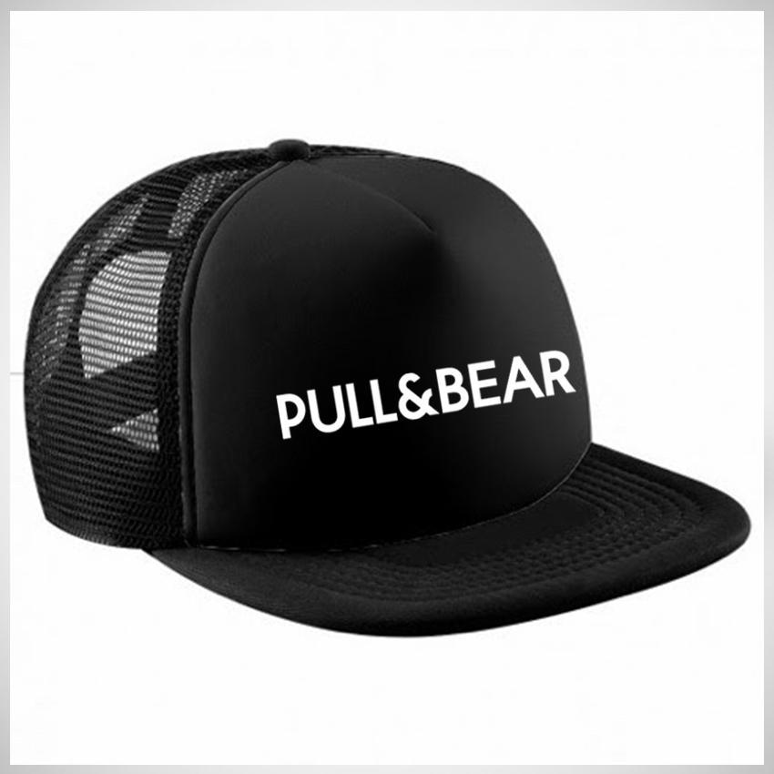 Jakarta Distro Topi Snapback Jaring Pull & Bear White - Black Premium