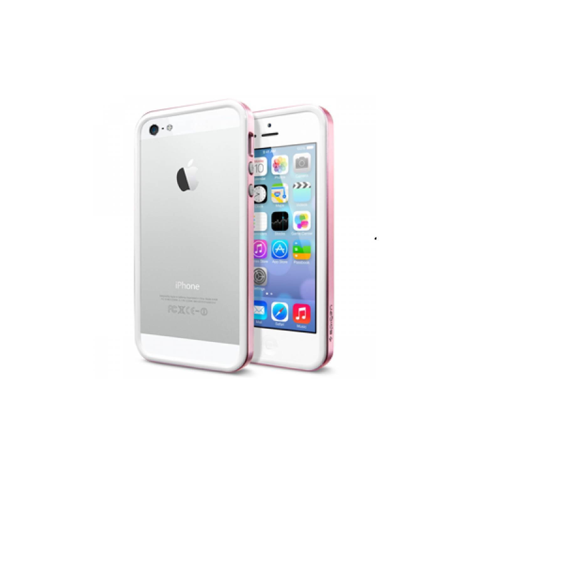 Spigen SGP iPhone 5 Neo Hybrid EX Metal - Metal Pink [Packing Rusak]