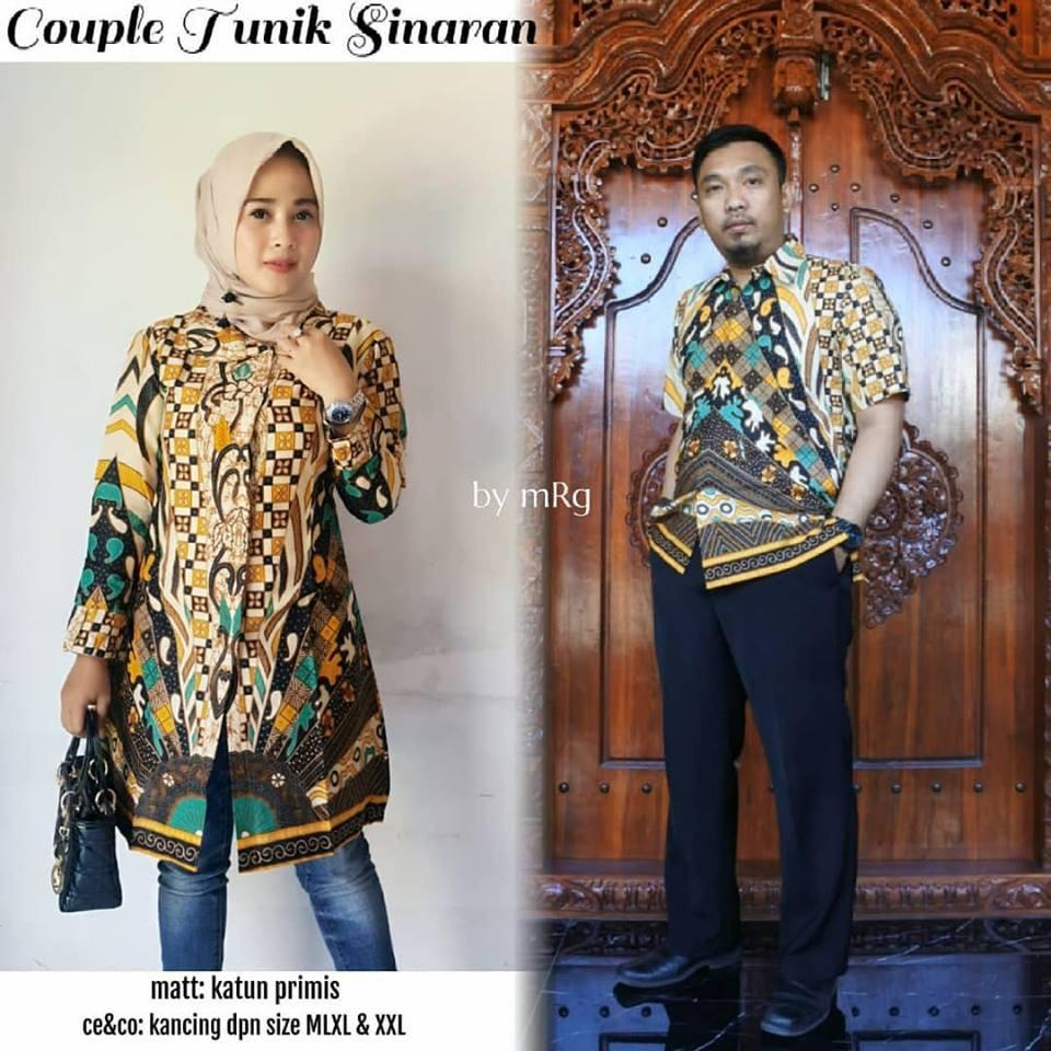 Couple Tunik Sinaran - Couple Batik Pesta - Jual Batik Couple Murah - Atasan Batik Kerja ()