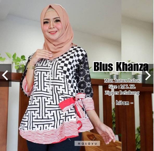Blus batik modern Blouse kekinian untuk kerja dan kondangan