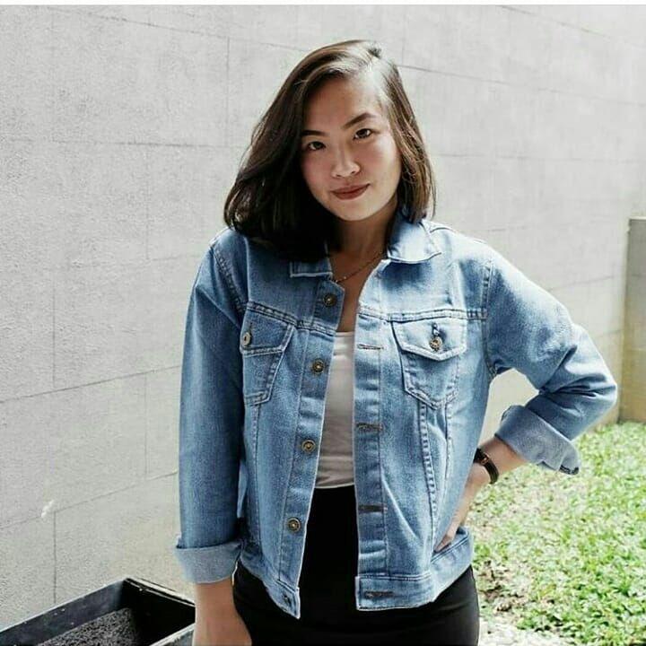 jaket jeans murah wanita SONGKET JACKET JEANS jaket murah bandung