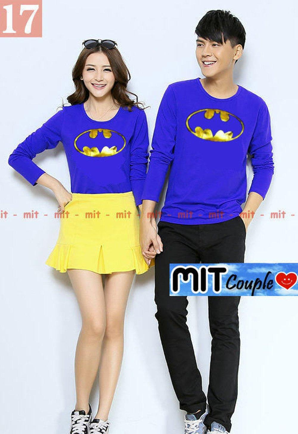KAOS COUPLE BATMAN GOLD FOIL LP (BIRU) di lapak COUPLE GROSIR couplegrosir