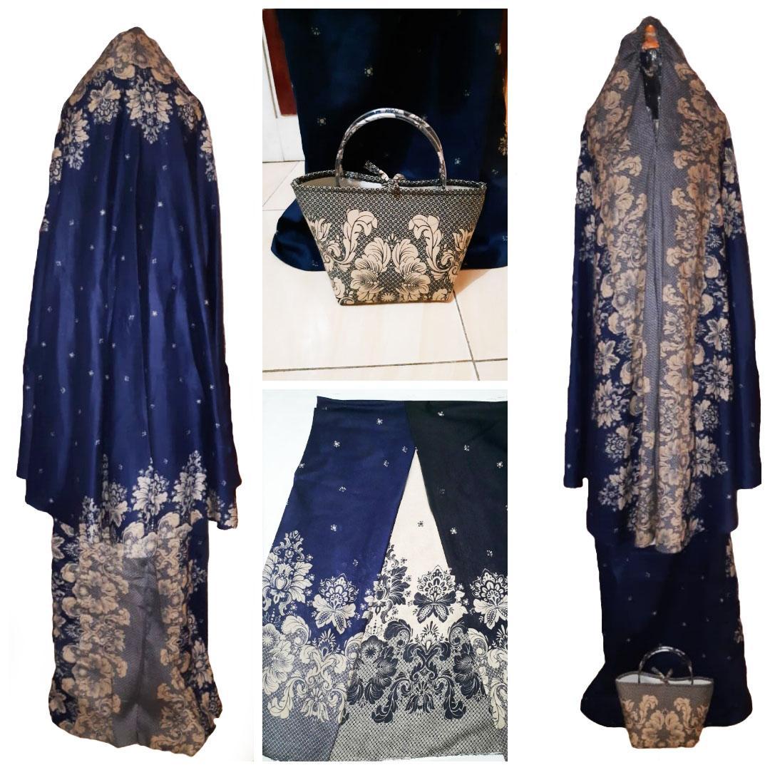 Jessica Fashion Mukena Batik Dewasa Deen Salam NEW - Coklat - Best Seller 1