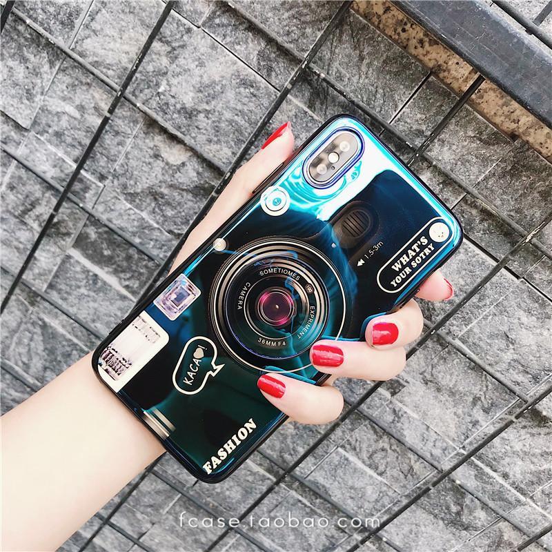 Beberapa Casing HP Iphone8 Cahaya Biru Kamera Apple ID Kantong Udara