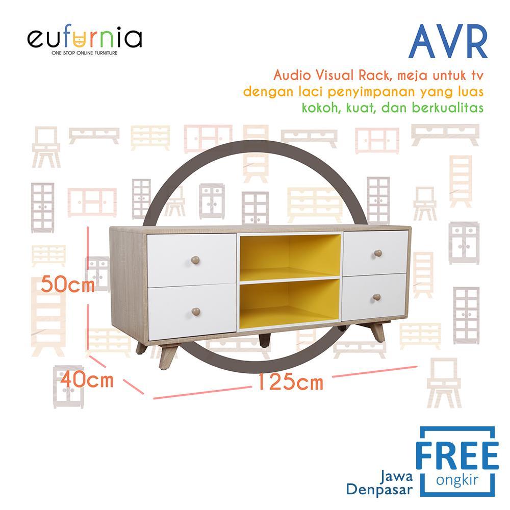 Eufurnia Olympic Curla Series Audio Visual Rack - Rak TV