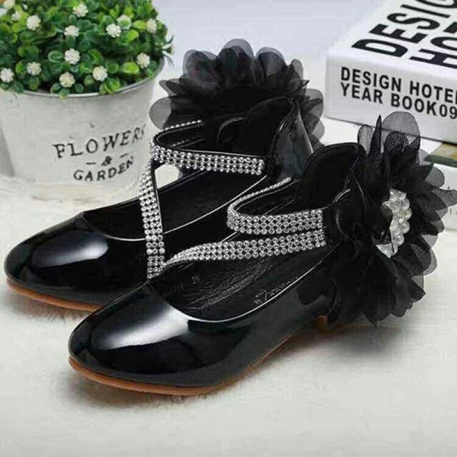 Premium Flo Shoes Black (Bajukiddie) Sepatu Pesta Anak Perempuan Produk Sepatu Pesta Terbaik