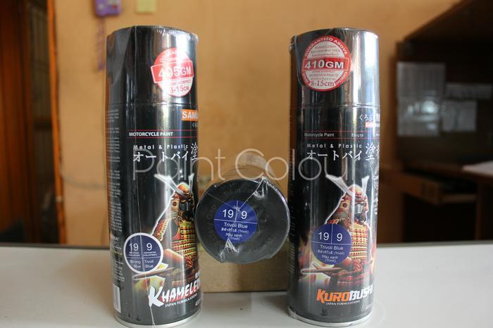 Hemat 10%!! Samurai Paint 9 Tivoli Blue Cat SemprotU002Fpylox HelmU002FmotorU002Fgundam - ready stock