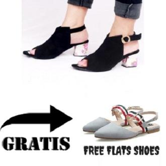Footwear_ltd Buy 1 Get 1 free GHS-BI HITAM HIGH HEELS WANITA