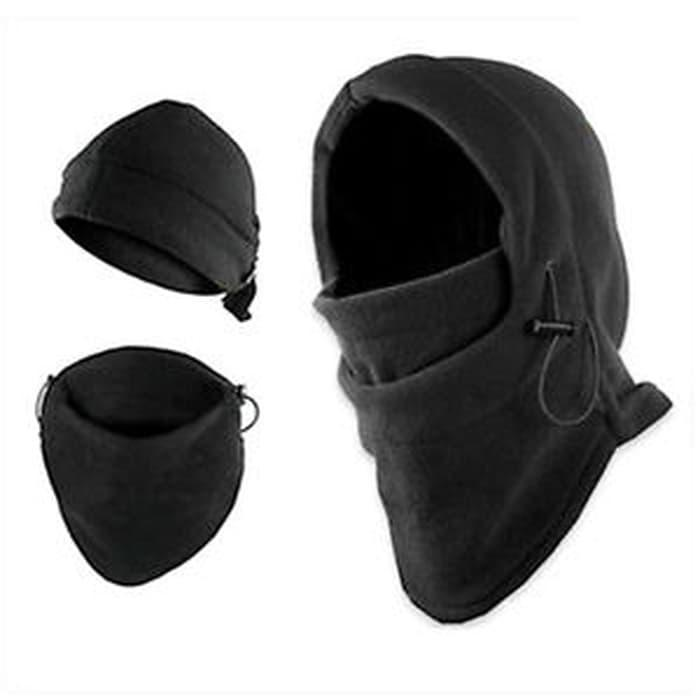 Diskon 10%!! Stock Outdoor Survival Kit Knife Card Winter Ski Mask Beanie Camping H - ready stock