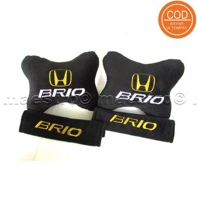 Aksesoris bantal leher jok mobil lucu unik Set 2in1 Honda Brio