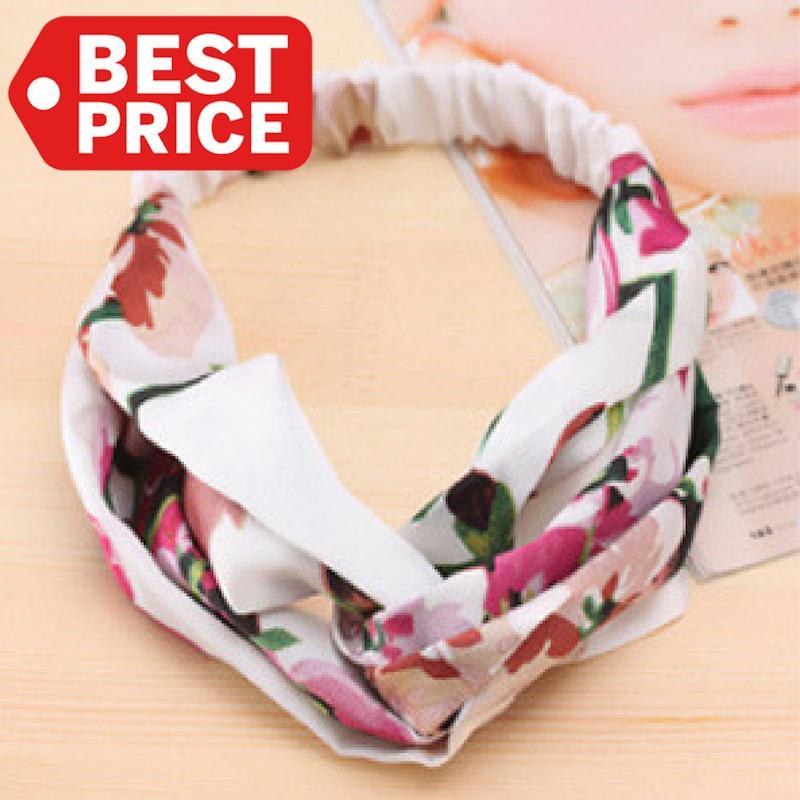 TOKO49 - Bandana motif bunga hair bands