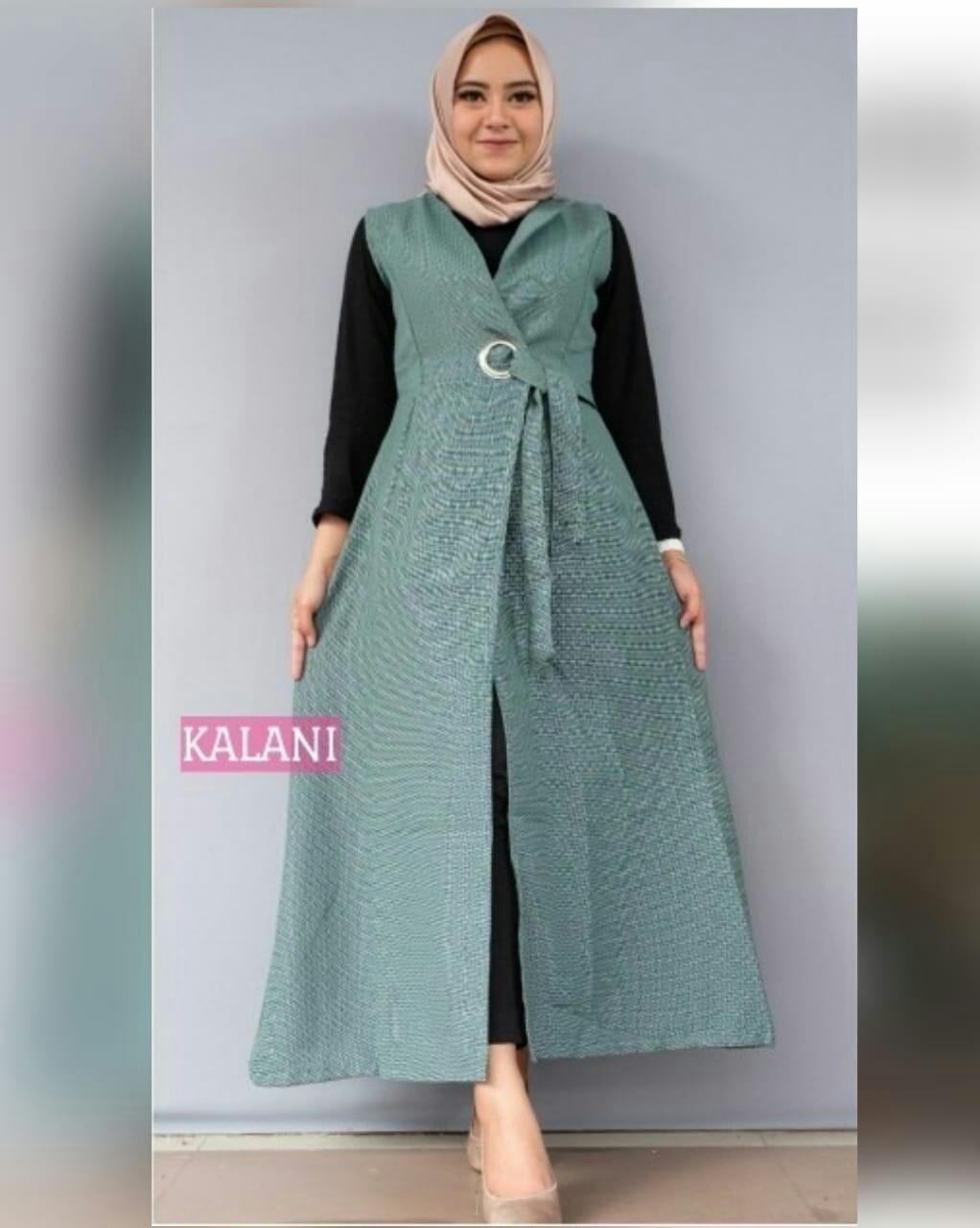 lunashop fashion wanita model outer kalani warna biru