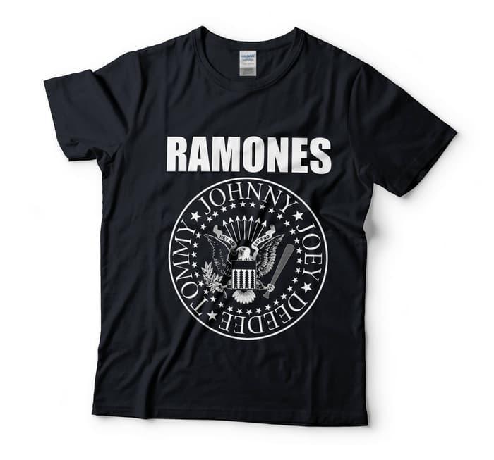 Baju Kaos Band Ramones Emblem Black Tag Gildan - UQ0KwY