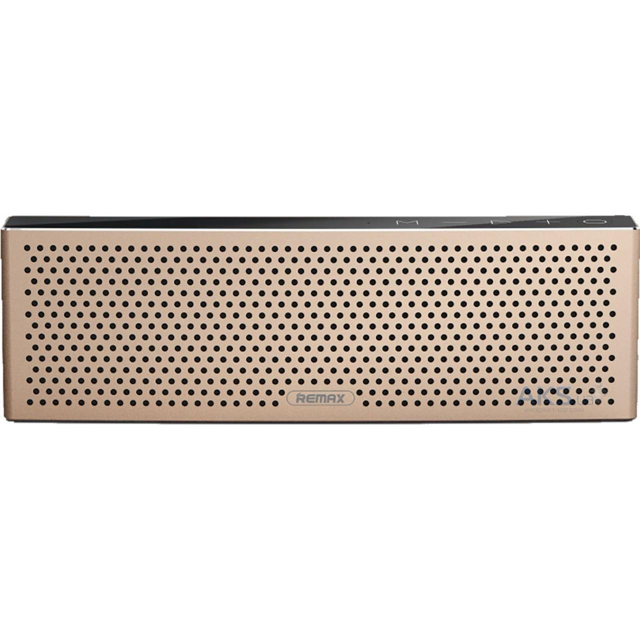Remax RB-M20 Subwoofer Bluetooth Speaker Dual Driver Micro SD Slot - Gold
