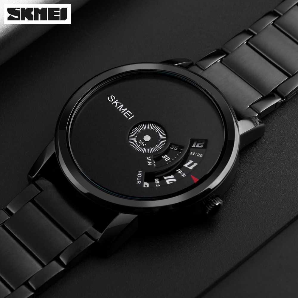 Jam Tangan Skmei Original Terlengkap Digital Dg1231cm Simple Style Men Watch A1260 Pria Strap Tali Besi Quartz Fashion Anti Air