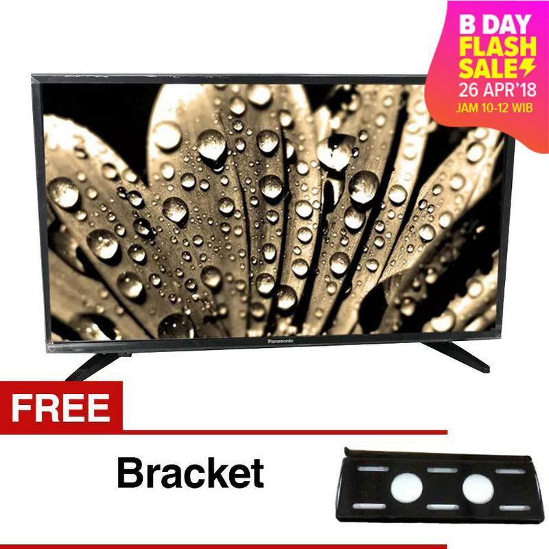 Panasonic 32 inch LED HD TV - Hitam (Model TH-32E302) + Gratis Bracket