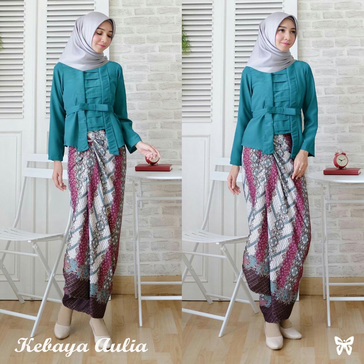 Queenshop - Gamis Kebaya Aulia / Baju Gamis / Maxi Wanita / Baju Muslim