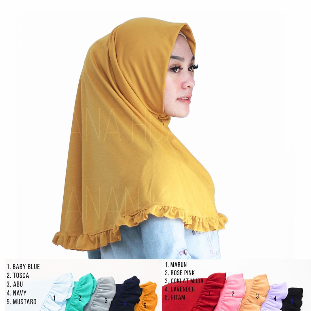 Hijab Instan Rempel Jilbab Najwa Rempel Kerudung Instan Murah