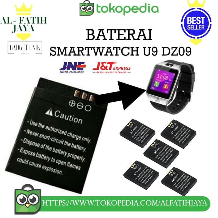 Baterai Smartwatch u9 dz09 batre jam tangan HP unik battery original / Jam Tangan canggih