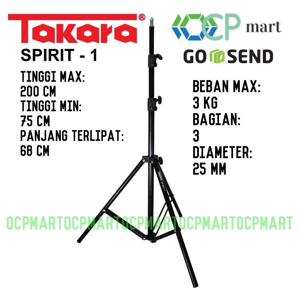 Light Stand TAKARA Spirit 1 Kaki Lampu Foto Studio Gs200 Pro Motes Excell Weifeng