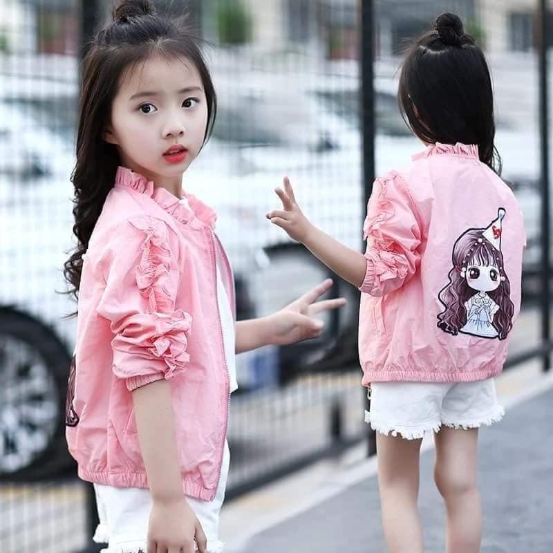 Time.shop JAKET MONZA KIDS - Pink Bahan Babyterry / Stelan Anak Tanggung / Jaket