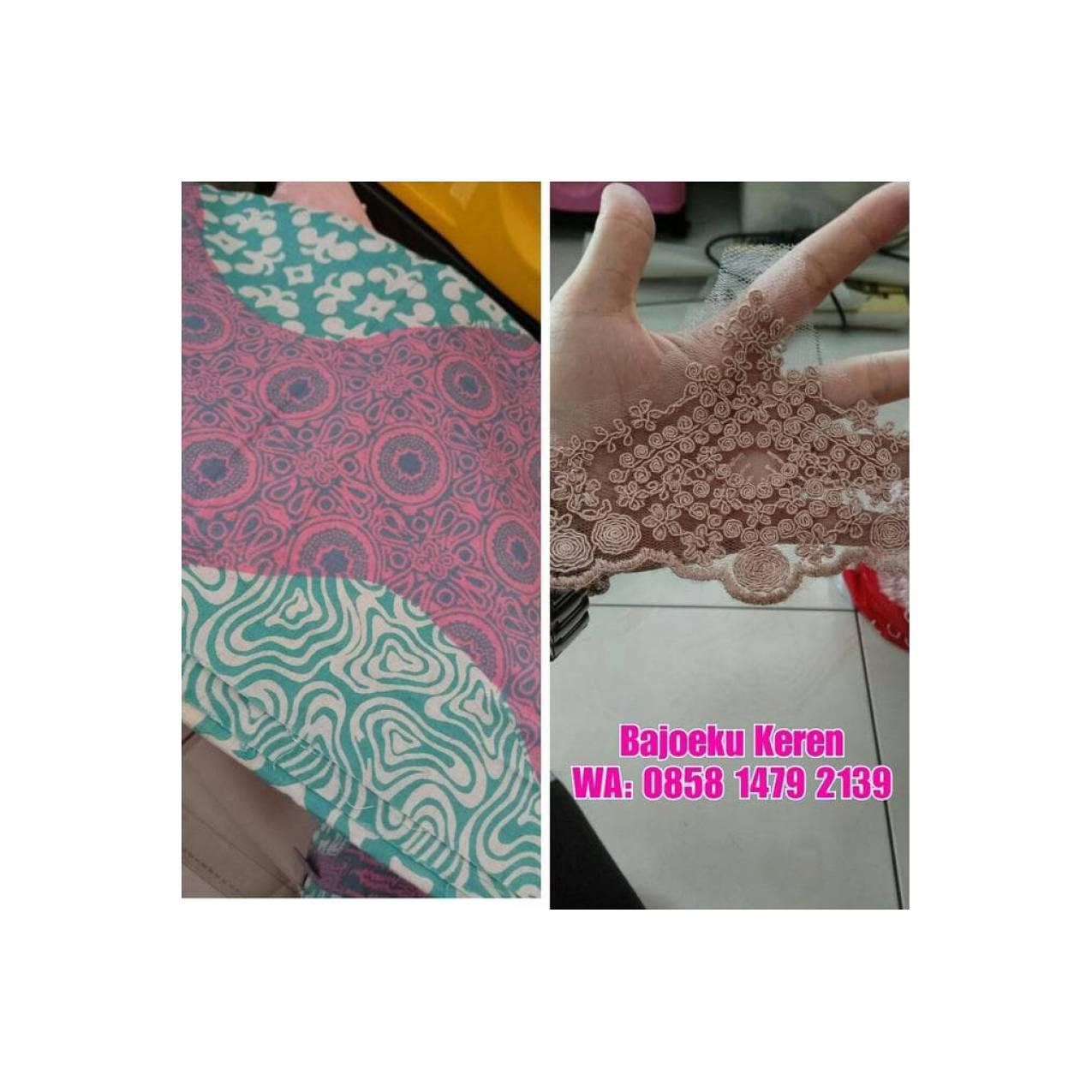 Dijual Batik Prada Kimono Tunik Gamis Baju Muslim Terima Jahit Unique