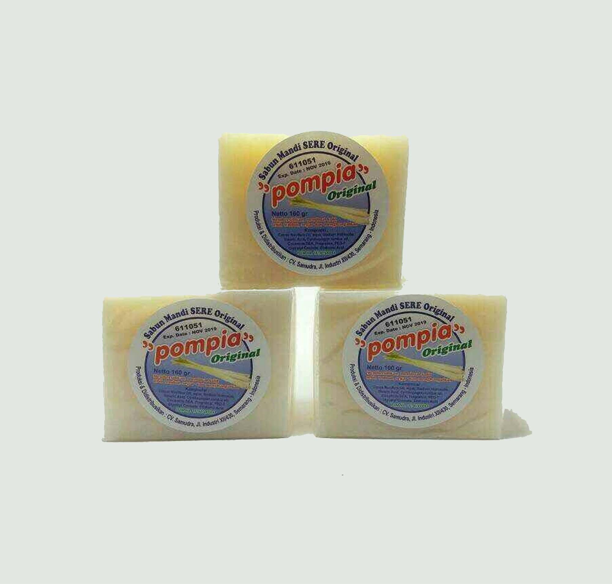 Pompia Kotak 160gram Sabun Mandi Sereh 4 Pcs Daftar Harga Termurah 160 Gram Herborist Sere Soap Original 160gr 3