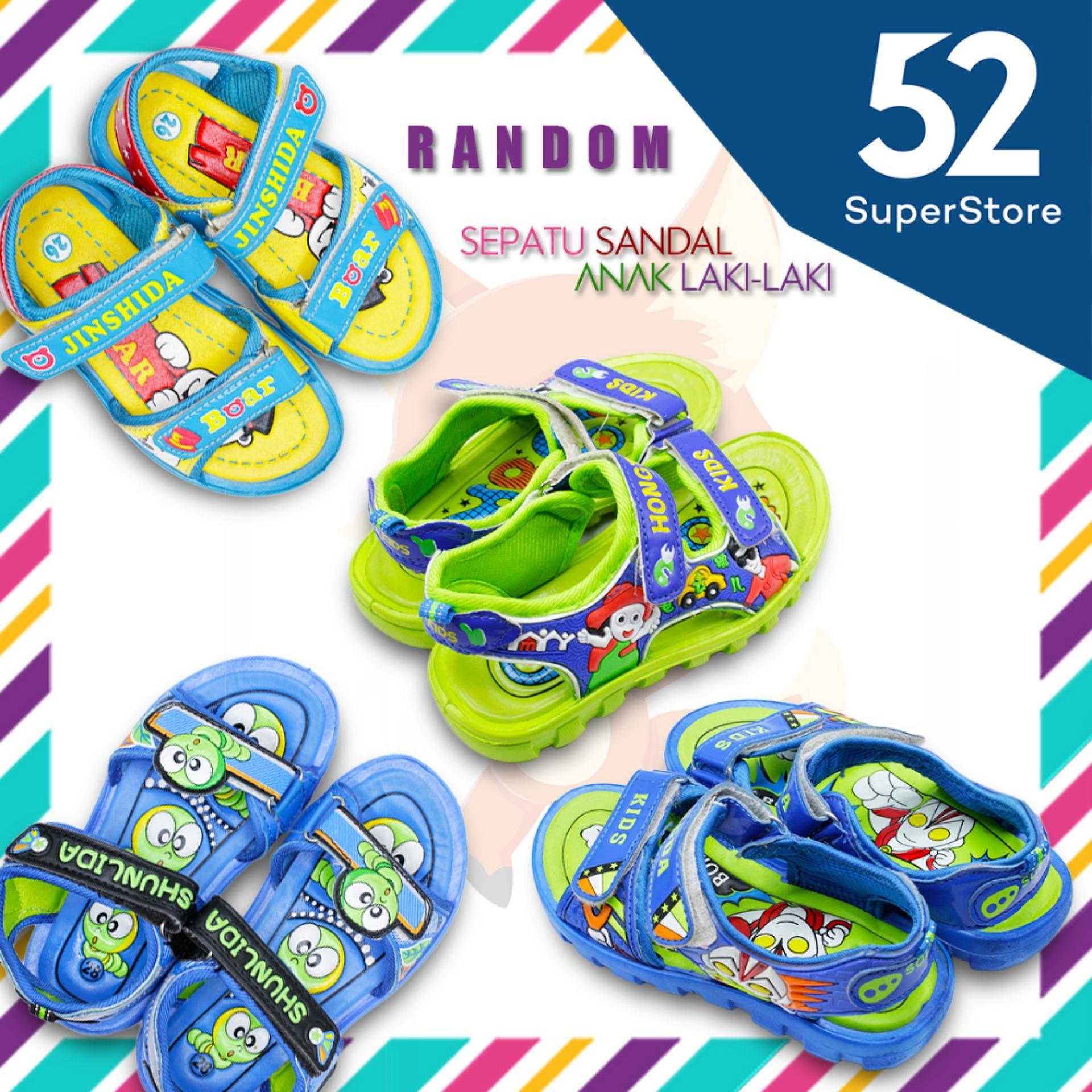 Sandal Jepit Anak Laki Murah Katalog Tayo Lelaki 52 Fashion Sepatu 008 Velcro Random Motif Mix Color Size 26