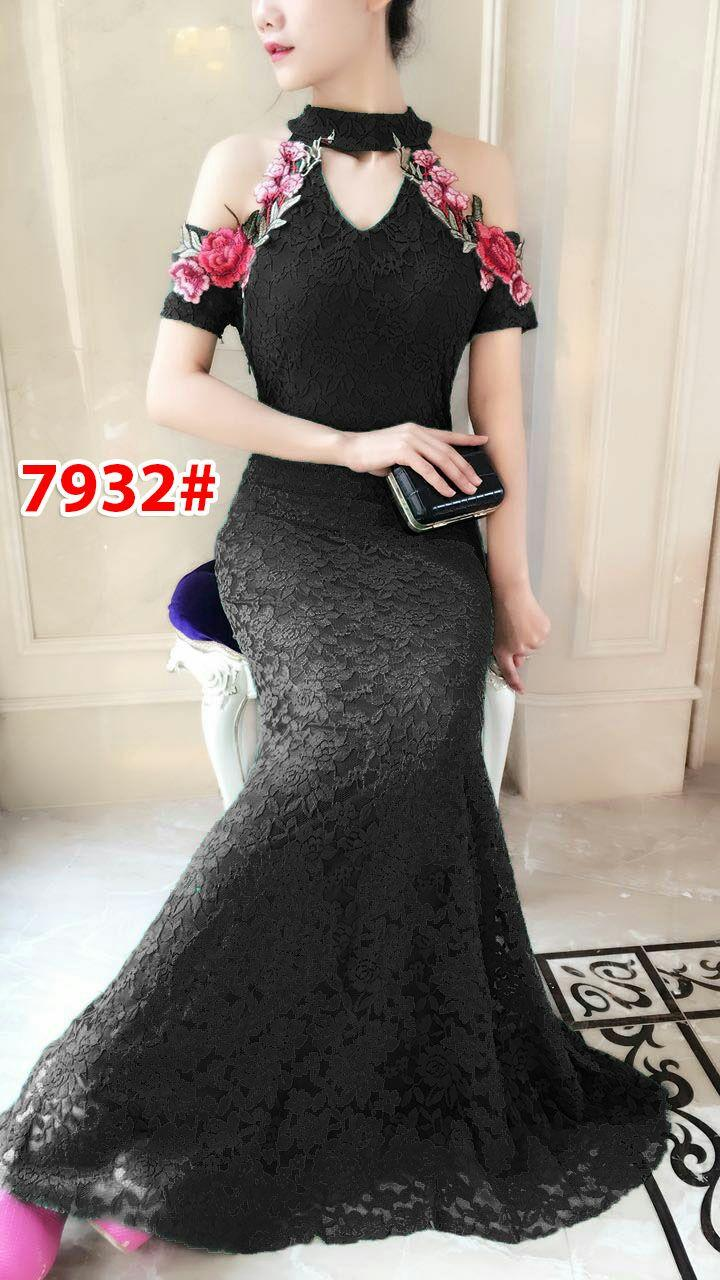 7932# baju pesta import  / gaun pesta import / baju pesta brokat / longdress fashion import / gaunpanjang