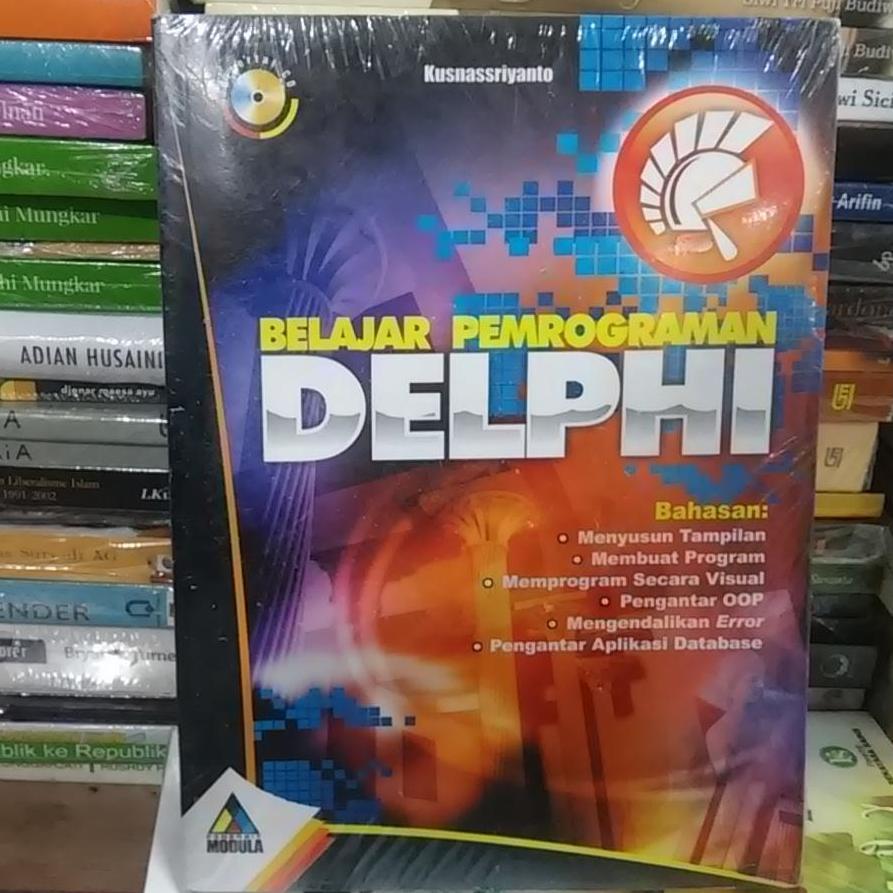 Buku Teknologi Terbaik Software Pemograman Handphone Belajar Pemrograman Delphi Cd Kusnassriyanto