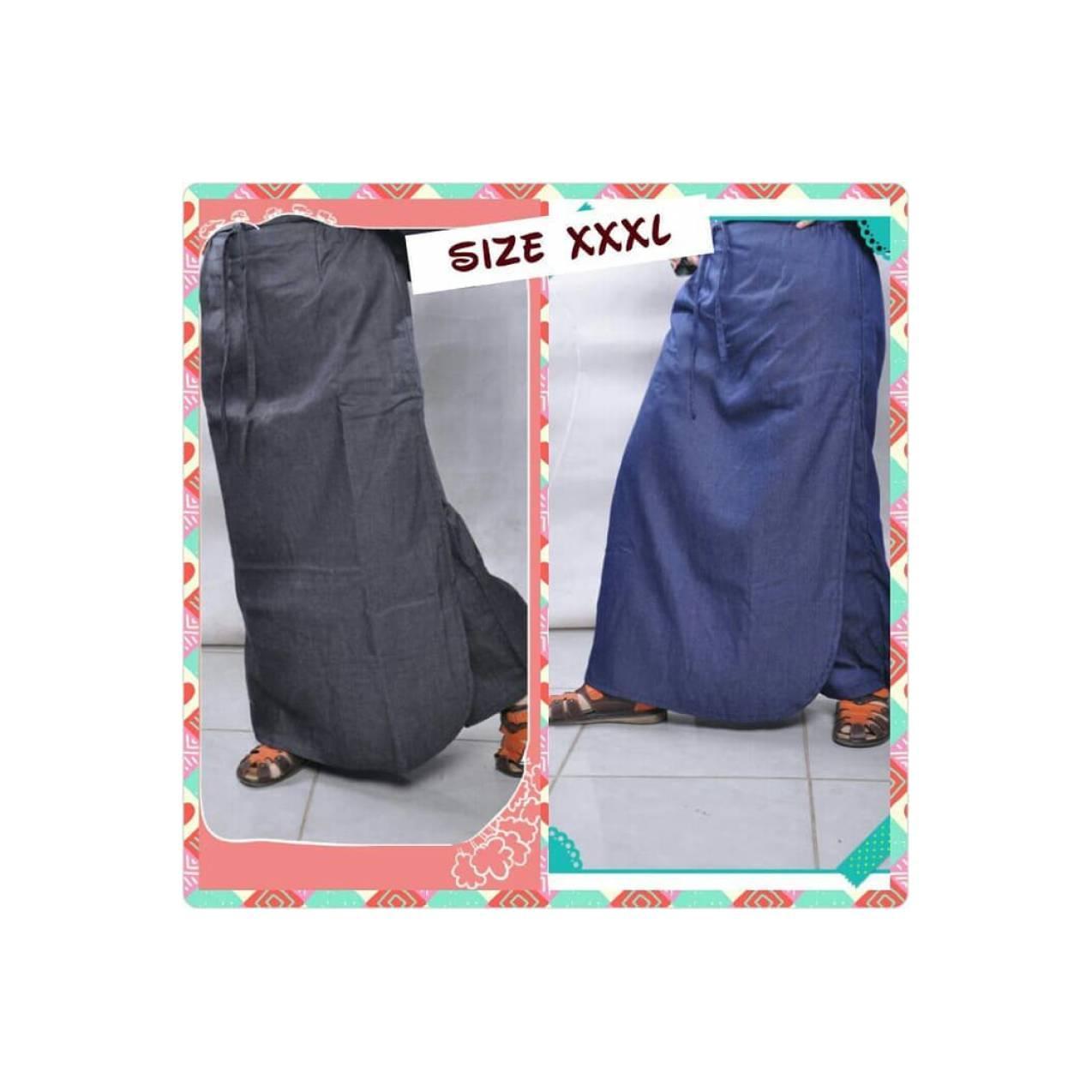 Rok Muslim Terbaru Rok Celana Denim Muslimah Size XXXL