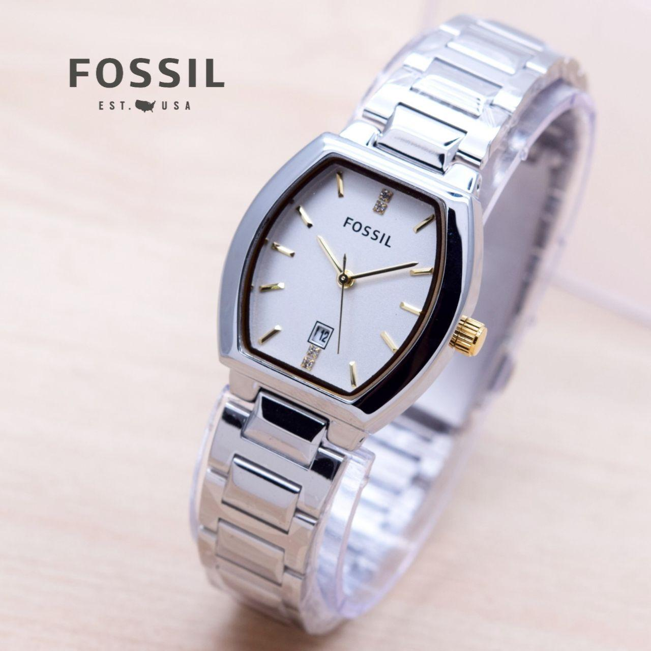 Harga Jual Fossil Es3202 Jam Tangan Wanita Silver Stainless Steel Am4481 Original Cewek Ladies Sk369 Leather Blue Rosegoldidr153000 Rp 155000